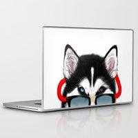 husky Laptop & iPad Skins featuring HUSKY by Rebeca Zum