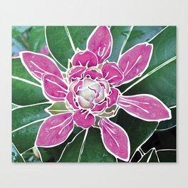 Batik Rhododendron Canvas Print
