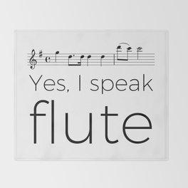 Do you speak flute? Throw Blanket