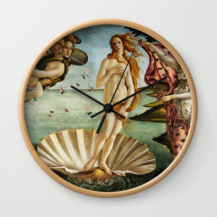 Iconic Sandro Botticelli The Birth of Venus Wall Clock