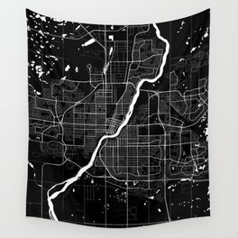 Saskatoon - Minimalist City Map Wall Tapestry