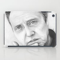 christopher walken iPad Cases featuring Christopher Walken Portrait by Olechka