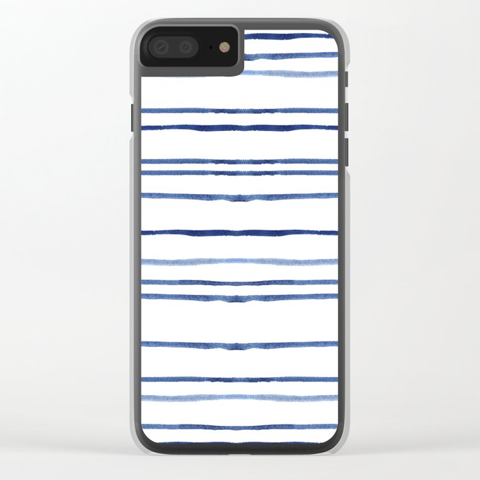 Watercolor stripes Clear iPhone Case
