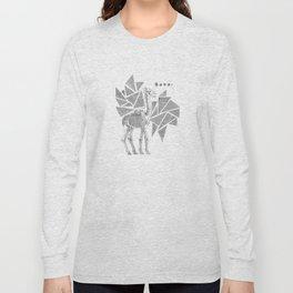 Skeletal Giraffe Long Sleeve T-shirt