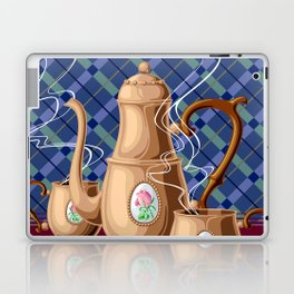 Coffee pot and two cups Laptop & iPad Skin