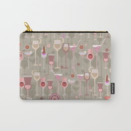Retro Vintage Cocktail Pattern 2 Carry-All Pouch