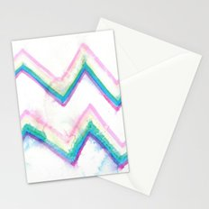 watercolor zig zag Stationery Cards