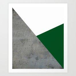 Concrete Festive Green White Art Print