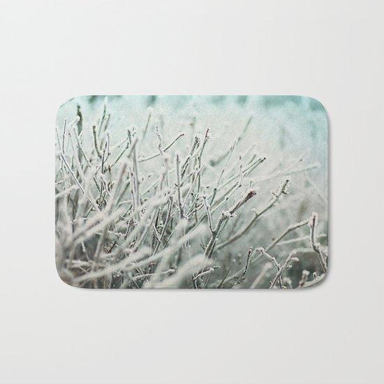 Winter frost Bath Mat