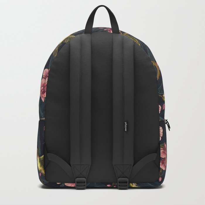 Sepia Hummingbird Pattern Backpack