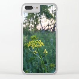 Wildflowers at Dusk Clear iPhone Case