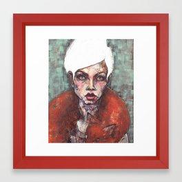 White Dove for print Framed Art Print