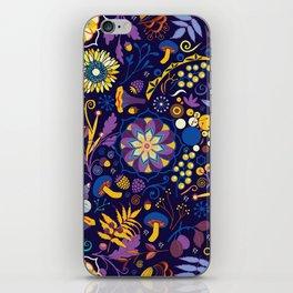 Ripe autumn – purple and yellow iPhone Skin