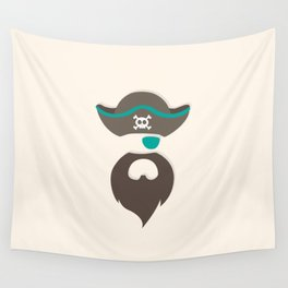 My little green Pirate Wall Tapestry