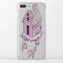 Baba Yaga's House of Horrors copy Clear iPhone Case