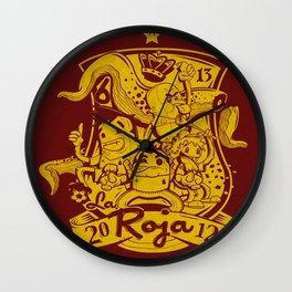 La Roja Wall Clock