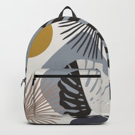 Minimal Yin Yang Monstera Fan Palm Finesse #2 #tropical #decor #art #society6 Backpack