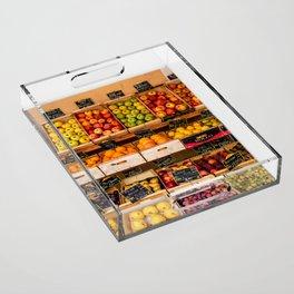 Groceries, Nice France Acrylic Tray