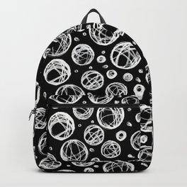 Chalkboard Scribble Circles Backpack