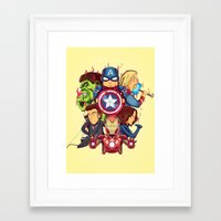 avenger Framed Art Prints featuring The Avenger by rendhy wahyu