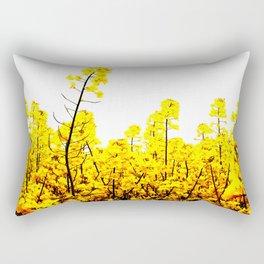 Yellow canola field Rectangular Pillow