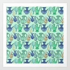 Persian Pots Art Print