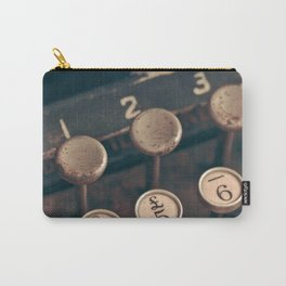 Vintage Typewriter - Macro Photography #Society6 Carry-All Pouch