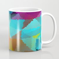 stained glass Mugs featuring Stained Glass  by Latidra Washington