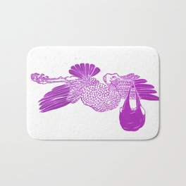 The Stork in pink Bath Mat