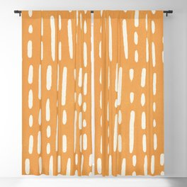 minimalist series: scandi lines, orange Blackout Curtain