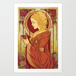 Blood and Wine Art Print