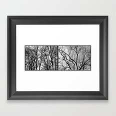 'Winter Trees Diptic 2' Framed Art Print