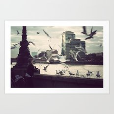 Pigeon Whisper    Art Print