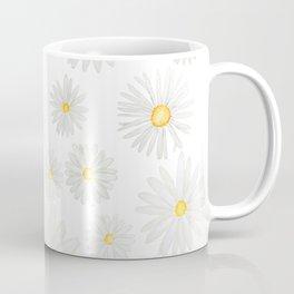 white daisy pattern watercolor Coffee Mug