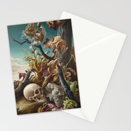 1940 Classical Masterpiece 'After Many Days' by Thomas Hart Benton Stationery Cards