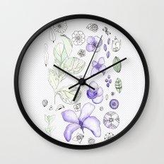 Violet Watercolor Wall Clock
