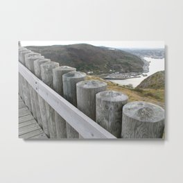NEAR THE WATCHTOWER Metal Print