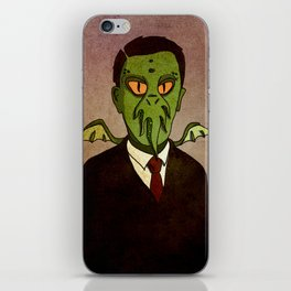 Prophets of Fiction - H.P. Lovecraft /Cthulhu iPhone Skin