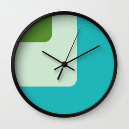Trendy color palette Wall Clock