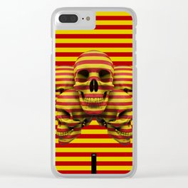 Skulls pop Clear iPhone Case