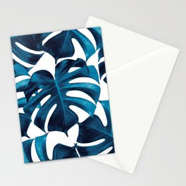 Tropical Monstera Leaves Dream #8 #tropical #decor #art #society6 Stationery Cards