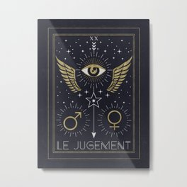 Le Jugement or The Judgement Tarot Metal Print