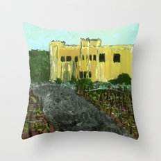 Sand Castle Winery Throw Pillow