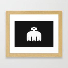 Imagawa Clan · White Mon Framed Art Print