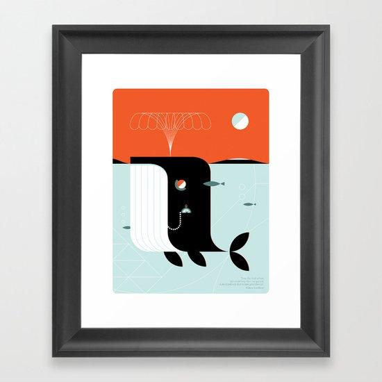 Time the dark whale Framed Art Print
