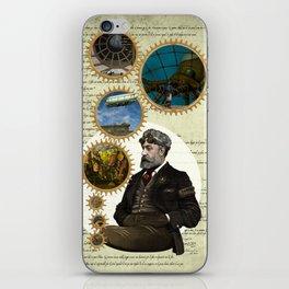 Jules Verne, a Steampunk vision iPhone Skin