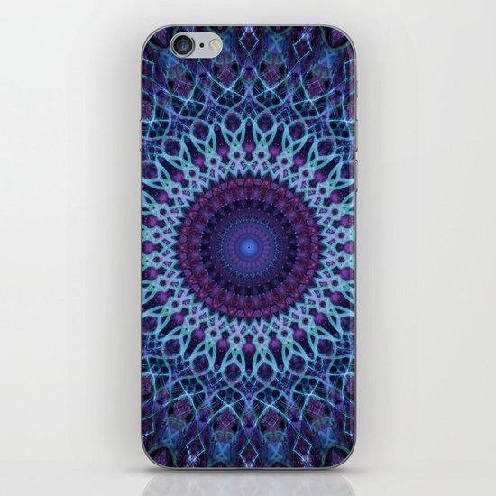 Mandala in dark and light blue tones by jaroslawblaminsky