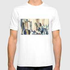 Be careful, we watch you! Mens Fitted Tee White SMALL