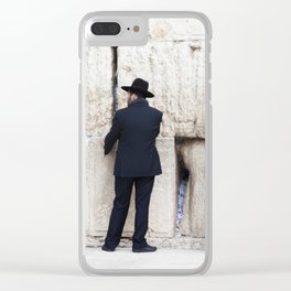 Prayer at the wall Clear iPhone Case