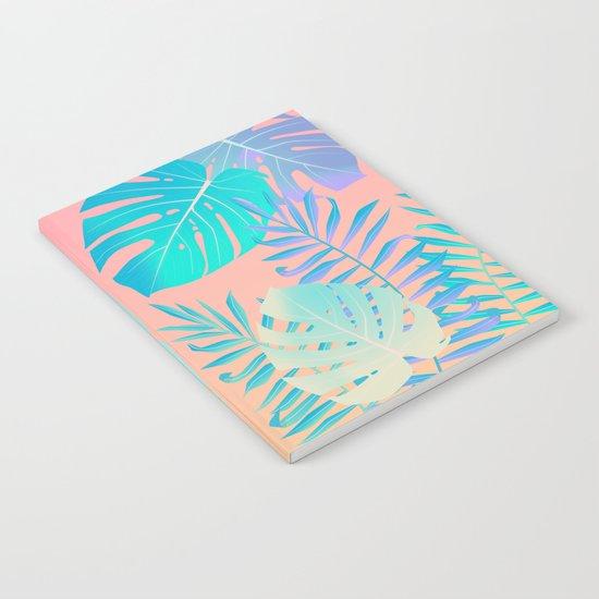 Tropics ( monstera and banana leaf pattern ) Notebook